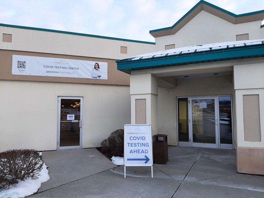 Sameday Health exterior entrance.
